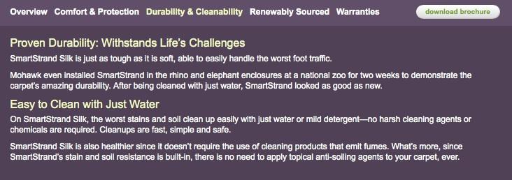 Silk Durability Cleanability Mohawk Site Landers Premier