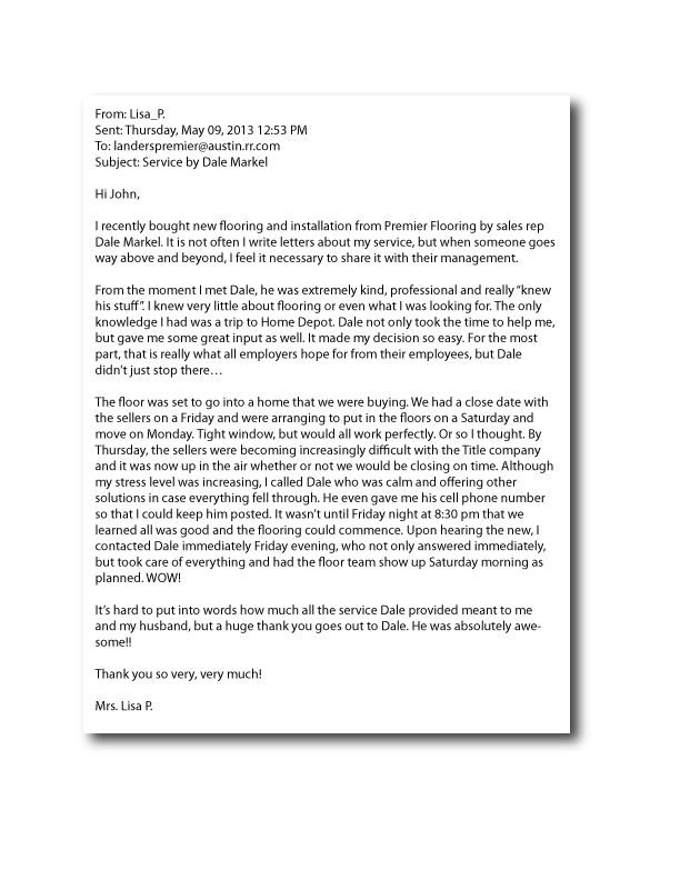 ReviewForDale-LisaP-May2013 Quick Letter Of Recommendation Template on for atheltes, medical school, college admission, for coworker, asking for, nursing job, for grad school, personal reference, college student,