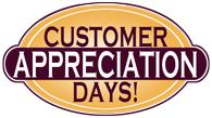 Landers Flooring Customer Appreciation Days Sale Logo