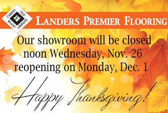 Landers Premier Flooring Austin TX Thanksgiving Holiday Hours